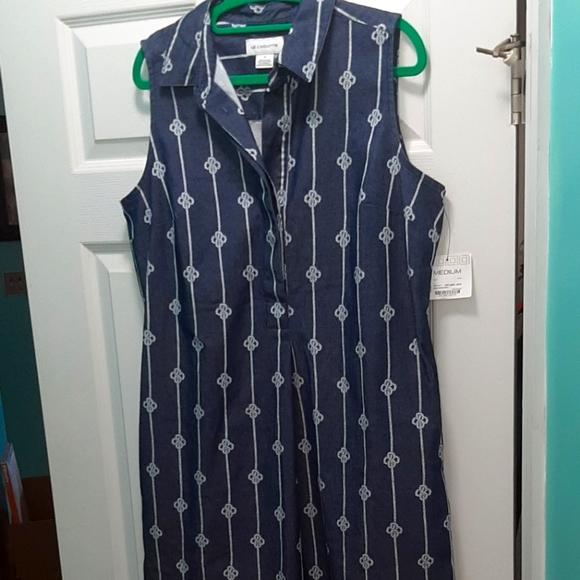 Navy blue  and white boat dress Liz Claiborne